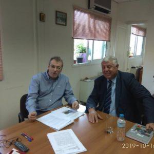 Γιάννης Πασχαλίδης συνάντηση με τον αρχηγό του Πυροσβεστικού Σώματος