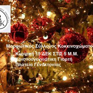 Χριστουγεννιάτικη Γιορτή στο Κοκκινόχωμα