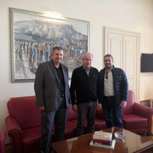 Ενημερωτική επίσκεψη στον δήμαρχο Καβάλας, κ. Θόδωρο Μουριάδη.