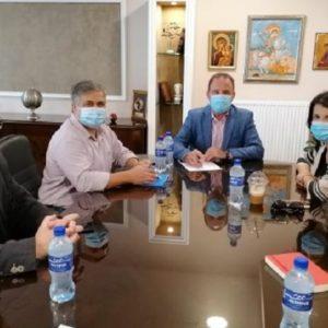 Συνάντηση Τάνιας Ελευθεριάδου με τον Δήμαρχο Παγγαίου.